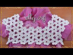 The flower coquette a hook Crochet Motifs, Bead Crochet, Crochet Stitches, Crochet Top, Crochet Necklace, Crochet Patterns, Toddler Dress, Baby Dress, A Hook