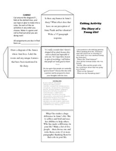 008 The Diary of Anne Frank the Play Timeline Unit Project