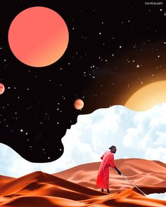 The Ghanaian-Moroccan artist creates offbeat and fantastical worlds that highlight Africa and its diaspora in a stunning way. Cartoon Kunst, Cartoon Art, Cosmic Art, Contemporary African Art, Transformers Art, Afro Art, Black Artists, Black Women Art, Book Cover Art