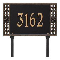 Whitehall Products Boston Personalized Standard Lawn Address Sign Plaque Color: Antique Copper, Customize: Yes Craftsman House Numbers, New Homeowner Gift, House Number Plaque, Whitehall Products, Great Gifts For Mom, Great Housewarming Gifts, Address Plaque, Wood Accents, Hanging Signs
