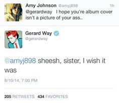 Gerard on Hesitant Alien's cover