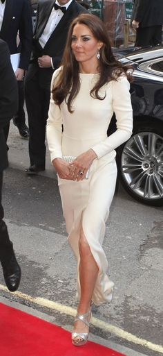 Kate in sexy white dress