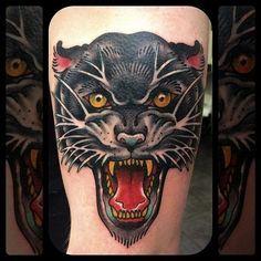 Bert Thomas  Panther Tattoo #tattoo #panther #kysa