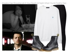 """""""Imagine Cas Showing Up in Your Room At Night When You're Feeling Sad"""" by xdr-bieberx ❤ liked on Polyvore featuring Fat Face, Polo Ralph Lauren and Dr. Martens"""