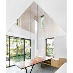"""""""three double height spaces link the communal areas of the ground floor with the more private spaces of the second floor in this residential renovation by naturehumaine architects. more #architecture and #interior projects on #designboom! #naturehumaine"""" Photo taken by @designboom on Instagram, pinned via the InstaPin iOS App! http://www.instapinapp.com (03/02/2016)"""