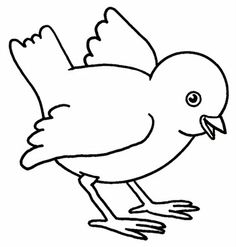 Collection of Baby chick clipart Art Drawings For Kids, Bird Drawings, Drawing For Kids, Easy Drawings, Bird Coloring Pages, Coloring Pages For Kids, Hand Embroidery Designs, Embroidery Patterns, Kitten Drawing