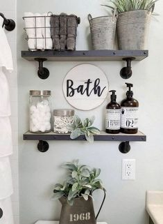 If you are looking for Small Bathroom Decor Ideas, You come to the right place. Below are the Small Bathroom Decor Ideas. This post about Small Bathroom Decor Ideas was posted under the Bathroom categ. Small Bathroom Storage, Bathroom Design Small, Diy Bathroom Decor, Bathroom Styling, Bathroom Designs, Wall Storage, Bathroom Organization, Organization Ideas, Budget Bathroom