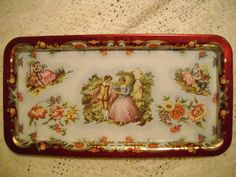 Daher Tray with Colonial Scene