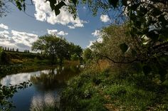 Lopan river. Kharkiv. Ukraine