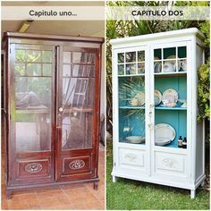 Customizing recycled furniture is a beautiful way to help the environment Refurbished Furniture, Paint Furniture, Repurposed Furniture, Furniture Projects, Furniture Making, Furniture Makeover, Vintage Furniture, Cheap Furniture, Exterior House Colors