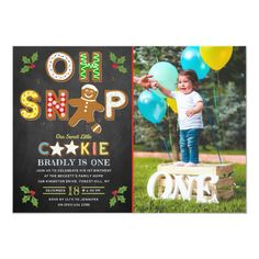 Oh Snap! Gingerbread Cookie Any Age Birthday Photo Invitation Age, Photo Birthday Invitations, Professional Logo Design, Birthday Cookies, Birthday Photos, Gingerbread Cookies, Special Events, Rsvp, Age, Prints