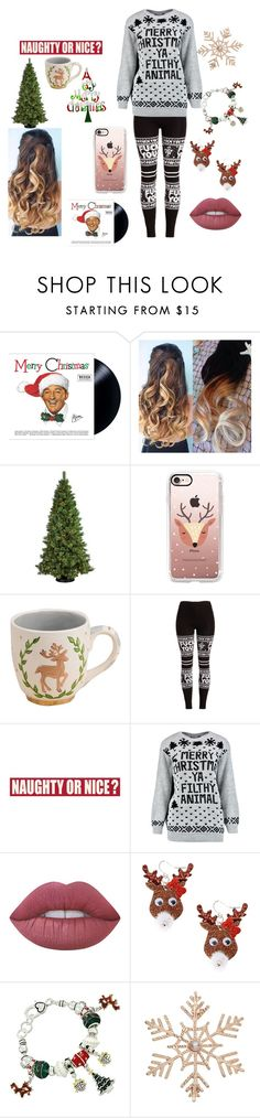 """""""Merry Christmas"""" by gustavia5347 ❤ liked on Polyvore featuring General Foam, Casetify, Glory Haus, Sixtrees, Lime Crime, claire's and John Lewis"""