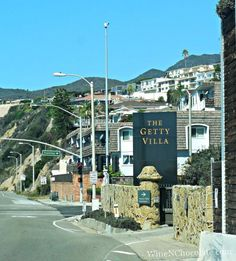 When visiting the Getty Villa in Malibu California you must enter from the right lane.