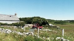 Red tractor. Rathlin Island. #my own #S.Campbell