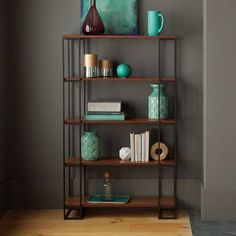 "Grid Frame Bookcase - Tall | west elm | 499.00 | 38""w x 13.5""d x 62""h"