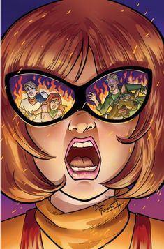 Archie Comics artist Dan Parent was asked by DC Comics to create variant covers for upcoming Hanna-Barbera Beyond comic books! Here is Dan Parent's variant cover of issue of Scooby Apocalypse! Cartoon Movie Characters, Cartoon Games, Cartoon Shows, Be Cool Scooby Doo, Velma Scooby Doo, Desenhos Hanna Barbera, Lsd Art, Scooby Doo Mystery Incorporated, Daphne And Velma