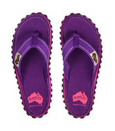 ad02ffc024e3c2 Gumbies - Islander Canvas Flip Flops Purple Most Comfortable Flip Flops