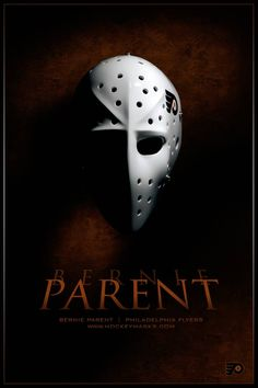 Bernie Parent mask II by on DeviantArt Flyers Hockey, Hockey Gear, Hockey Goalie, Hockey Stuff, Ice Hockey, Bernie Parent, Mark Messier, Philly Style, Goalie Mask