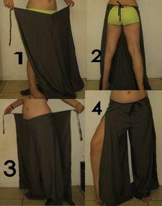 M Como hacer Pantalon-Falda-Delantal Paso a Paso - enrHedando                                                                                                                                                      Más