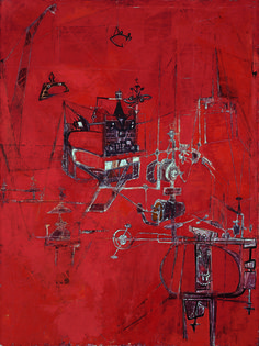 Machine 1950 Hedda Sterne (Romanian-born, United States, b. Oil on canvas 51 x 38 inches Festival of Arts Purchase Fund Krannert Art Museum Willem De Kooning, Jackson Pollock, Life Magazine, Abstract Painters, Abstract Art, Modern Art, Contemporary Art, Walter Gropius, American Artists