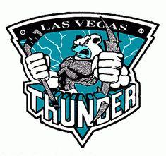 Las Vegas Thunder   Las Vegas Thunder hockey logo from 1998-99 at Hockeydb.com