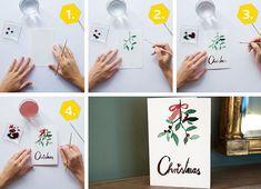 Klassische Weihnachtskarte selber basteln Anleitung