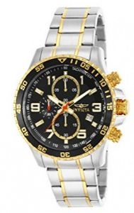 Invicta Men's 14876 Specialty Chronograph Black Textured Dial Two Tone Stainless Steel Watch Stainless Steel Watch, Stainless Steel Bracelet, Color Dorado, Grandpa Gifts, Christmas Gifts For Women, Gold Gifts, Metal Bracelets, Fashion Watches, Watch Bands