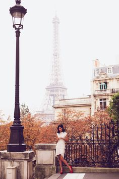 Nicole Warne - Lover top and skirt, Charlotte Olympia heels.  (Paris - November 2013)