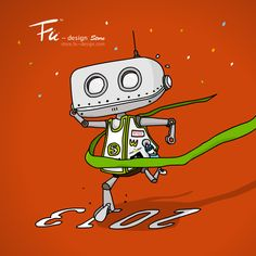 Purchase Fu's illustrated products only at Fu-design Store Robots, Happy New Year, Snoopy, Store, Illustration, Artwork, Fictional Characters, Design, Tent