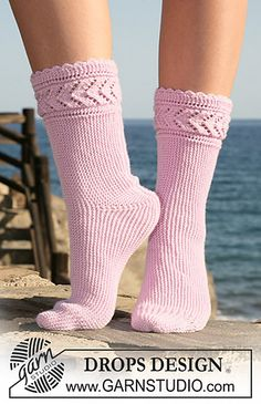119-33 Sock knitted from side to side by DROPS design. Free pattern.