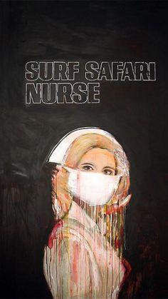 Richard Prince – Surf Safari Nurse – TODAZE – visual inspiration every moment #RichardPrince #nurse #black #surf #