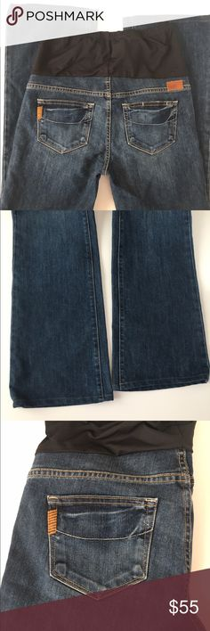 """Paige Laurel Canyon Maternity Jeans 29 Excellent preowned Paige maternity jeans in size 29. Inseam is 33"""". Style is Laurel Canyon. Paige Jeans Pants Boot Cut & Flare"""