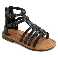 Toddler Girls' Taylor Classic Gladiator Sandals Cat & Jack - Black 9, Toddler Girl's