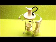 Washbasin/Lavatorio- polymer clay miniature (Fimo) - YouTube