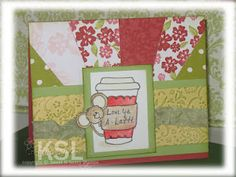 Another good way to use scraps [...and my coffee cup die]