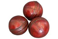English Leather Cricket Balls, S/3