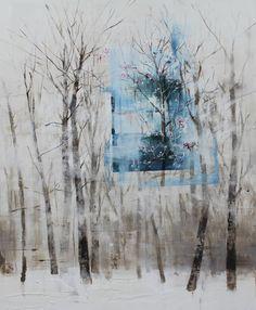 Canvas on acrylic - 봄이 오려는 순간