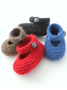 Mary Janes on Pinterest | Knitted Baby, Baby Booties and Knitting