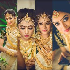 "8,580 Likes, 49 Comments - Diya Vj 🎀 (@diya_menon) on Instagram: ""Love this collage ❤️ Kerala wedding diaries 💃💕happy ME 😍😘 you are the best makeup artist babe 😘…"""