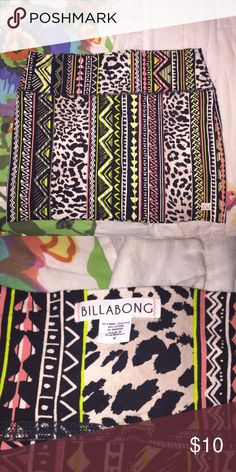 Billabong mini skirt NWOT. Never worn. Tight fit. And stretchy Billabong Skirts Mini