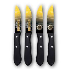 Boston Bruins 4-Piece Steak Knife Set, Multicolor