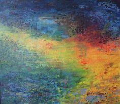 Abstrakti maalaus - Ulla Vehviläinen
