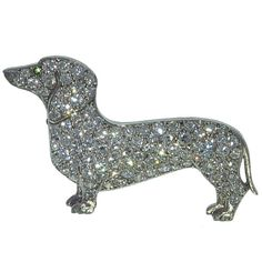 Whoa, a blinged-out doxie brooch. I might rock that! #dog #dachshund #jewelry