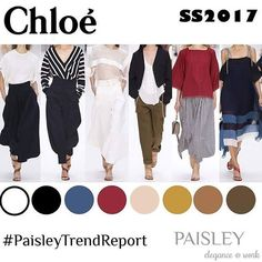 """Chloé's esthetic is simple and eternal, so is the new SS2017 women collection which is """"airy"""" and muted. We at Paisley office wear especially like the tied shoulder straps and """"sailor"""" blouses.  #paisleytrendreport #trendy #trendalert #fashiondesigner #fashionblogger #fashion #instafashion #fashionable #chloe #rtw #like #love #follow #dresses #classy #ootd #runway #catwalk  #ss2017 #casual #passion4fashion #romantic #style  #culottes #work #photooftheday #sailor  #spring #summer @chloe"""