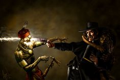Faith and a .44 by ~ChrisAppel on deviantART. Cowboy preacher killing some zombies. Good reference for Dead Range pt. 3?