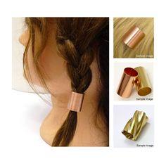 A copper hair tube a hair findings hair supplies  by artstudio88
