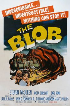Halloween Fright- Classic Movie Poster- The Blob