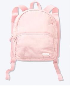 """RIPSTOP MINI BACKPACK Padded interior Adjustable straps Dimensions: 9 7/8"""" L x 5 5/8"""" W x 10"""" H Imported polyester Backpack Outfit, Mini Backpack, Leather Backpack, Fashion Backpack, I Love My Shoes, Crazy Shoes, Cute Backpacks For School, Aesthetic Backpack, Pink Luggage"""