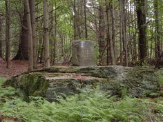 In 1853 the Mass was celebrated in the Mad River Valley for the first time. For an altar, Fr. Jeremiah O'Callaghan used this large flat rock in a pasture on South Hill in Moretown, Vermont.