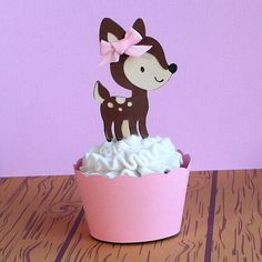 woodland cupcake topper